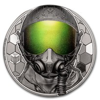2020 Cook Islands 3 oz Silver Real Heroes; Fighter Pilot