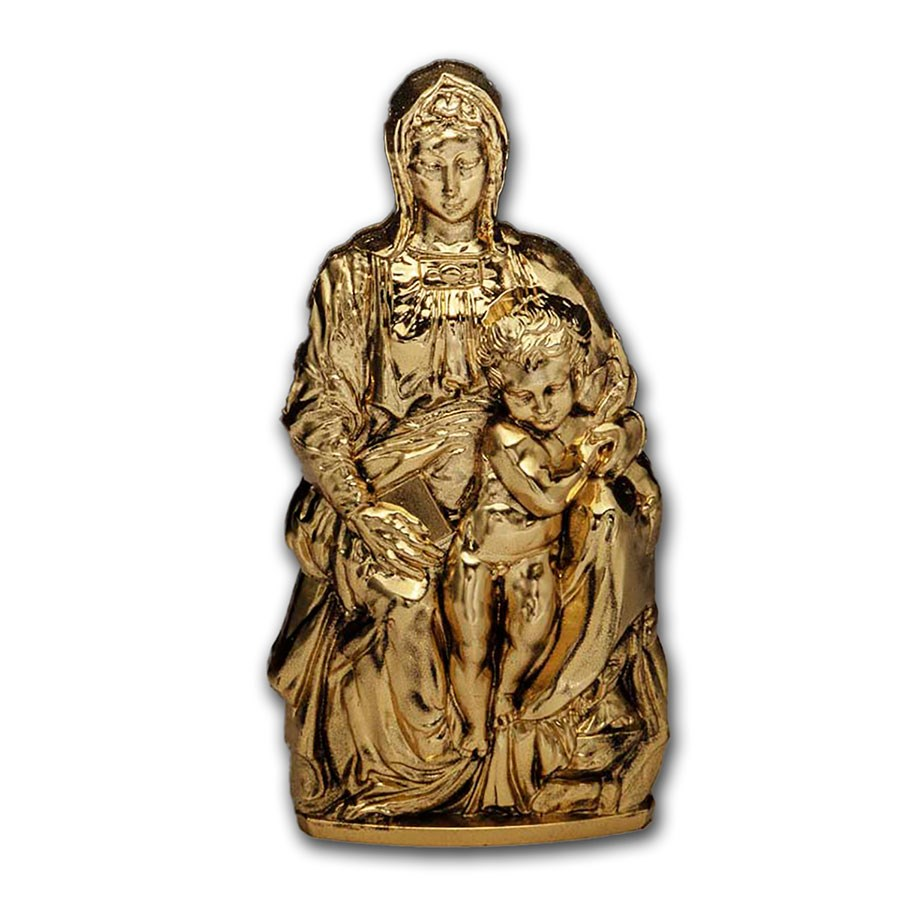 2020 Cook Islands 3 oz Silver Shaped Madonna of Bruges