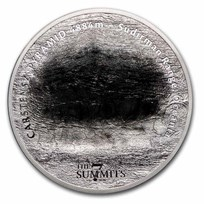 2020 Cook Islands 5 oz Silver 7 Summits (Carstenz Pyramid)