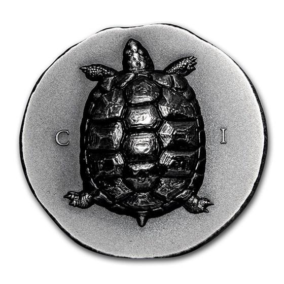 2020 Cook Islands Silver Antique Tortoise