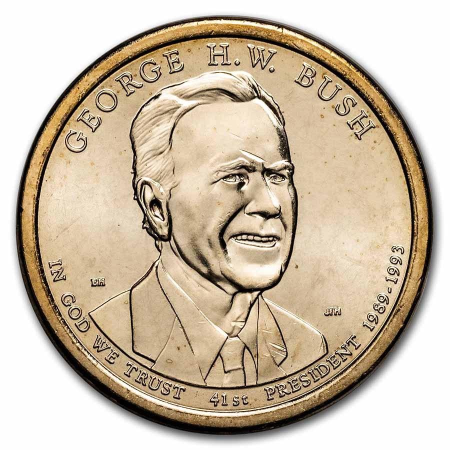 2020-D George H.W Bush Presidential Dollar BU