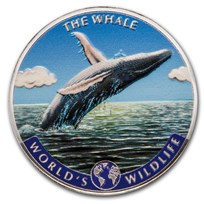 2020 Dem. Rep. of Congo Silver World's Wildlife Whale (Colorized)