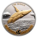 2020 Dem. Rep. of Congo Silver World's Wildlife Whale (Gilded)