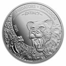 2020 Dem. Republic of Congo 1 oz Silver Extinct Predators Tiger