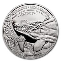 2020 Dem. Republic of Congo Silver Extinct Predators Mosasaurus
