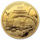 2020 Democratic Rep. of Congo 1/2 gram Gold Mamenchisaurus BU