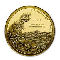 2020 Democratic Rep. of Congo 1/2 gram Gold Tyrannosaurus Rex BU