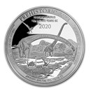 2020 Democratic Rep. of Congo 1 oz Silver Mamenchisaurus BU