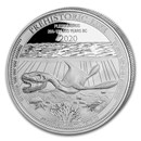 2020 Democratic Rep. of Congo 1 oz Silver Plesiosaurus BU