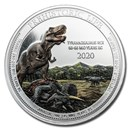 2020 Democratic Rep. of Congo 1 oz Silver T- Rex Colorized BU