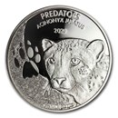 2020 Democratic Republic of Congo 1 oz Silver Cheetah BU