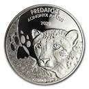 2020 Democratic Republic of Congo 1 oz Silver Cheetah BU
