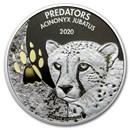 2020 Democratic Republic of Congo 1 oz Silver Cheetah (w/Color)
