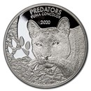 2020 Democratic Republic of Congo 1 oz Silver Cougar (Puma) BU