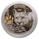 2020 Democratic Republic of Congo 1 oz Silver Cougar with Color