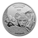 2020 Democratic Republic of Congo 1 oz Silver Hyena BU