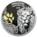 2020 Democratic Republic of Congo 1 oz Silver Lion (w/Color)