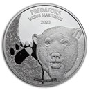 2020 Democratic Republic of Congo 1 oz Silver Polar Bear BU