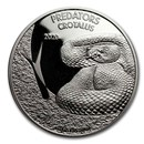 2020 Democratic Republic of Congo 1 oz Silver Rattlesnake BU