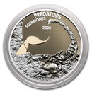 2020 Democratic Republic of Congo 1 oz Silver Scorpion w/Color