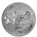 2020 Democratic Republic of Congo 1 oz Silver Tiger BU