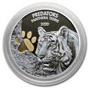 2020 Democratic Republic of Congo 1 oz Silver Tiger (Colorized)