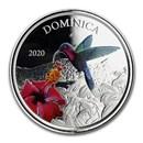 2020 Dominica 1 oz Silver Hummingbird Proof (Colorized)