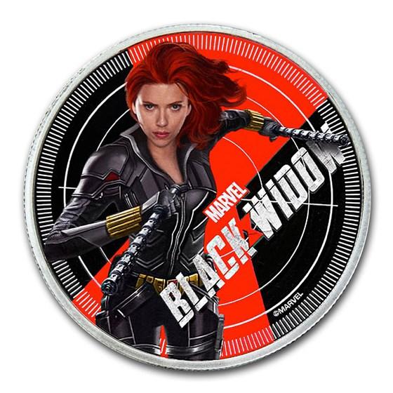 2020 Fiji 1 oz Silver Black Widow Proof