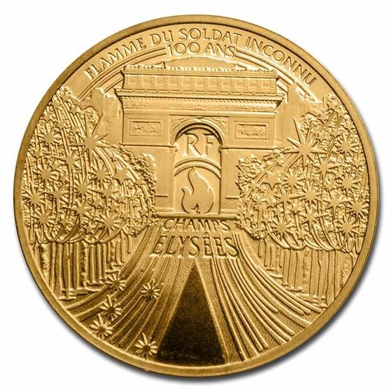 2020 France 1/4 oz Prf Gold Treasures of Paris (Champs Elysees)