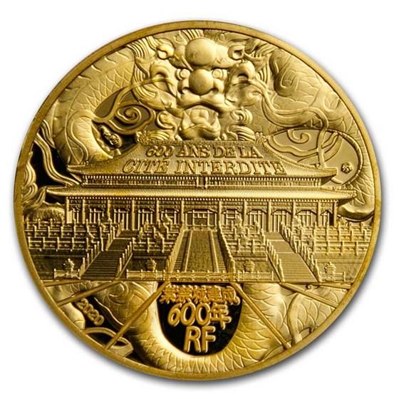 2020 France 1/4 oz Proof Gold UNESCO (The Forbidden City)