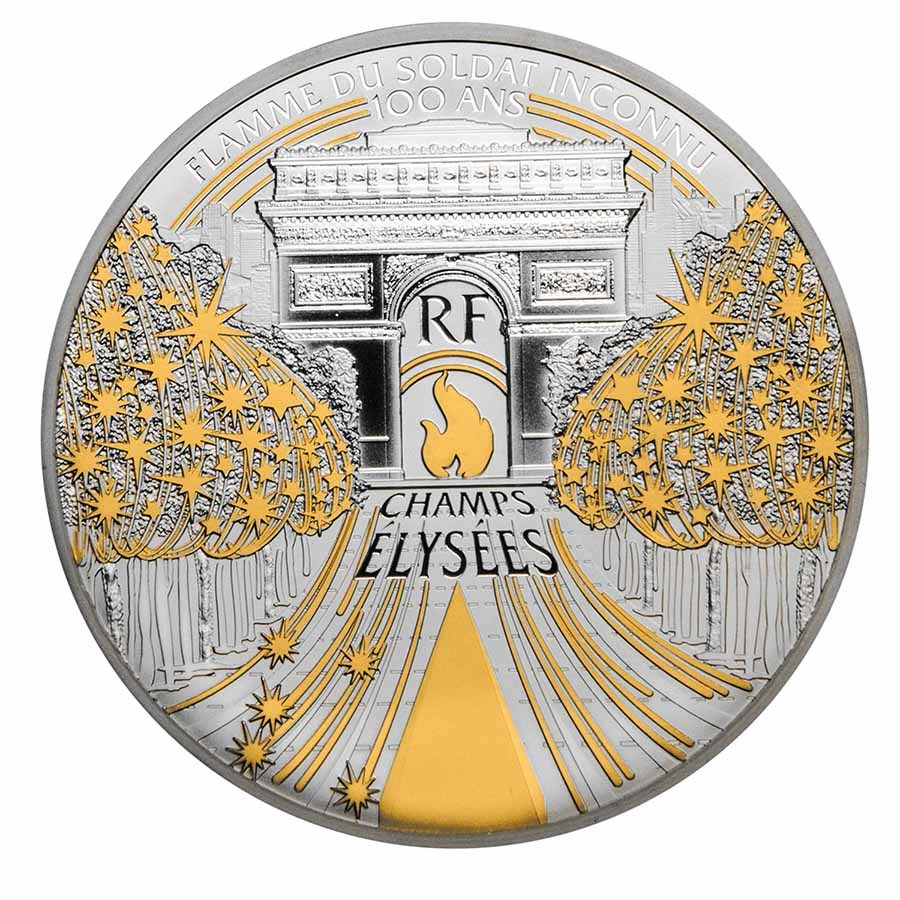 2020 France 5 oz Prf Silver Treasures of Paris (Champs Elysees)