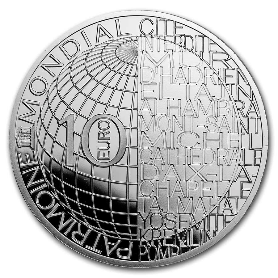 2020 France Silver €10 UNESCO (The Forbidden City)