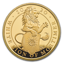 2020 GB 1/4 oz Gold Queen's Beasts White Lion Proof (w/Box & COA)