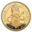 2020 GB 1 oz Gold Queen's Beasts White Lion Proof (w/Box & COA)