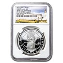 2020 GB 1 oz Silver Queen's Beasts White Lion PF-70 UCAM