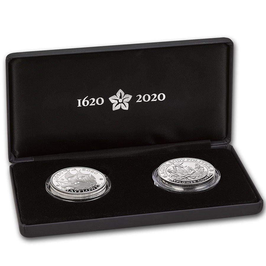 2020 GB 2-Coin Ag 400th Anniversary of the Mayflower Proof Set