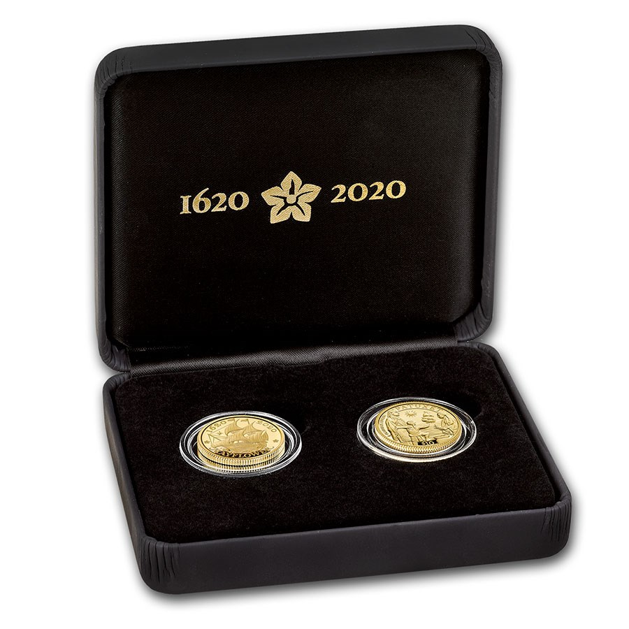 2020 GB 2-Coin Gold 400th Anniversary of the Mayflower Proof Set