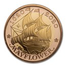 2020 GB £2 Gold 400th Anniversary of the Mayflower Proof