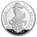 2020 GB Proof 10 oz Silver Queen's Beasts White Horse (Box & COA)
