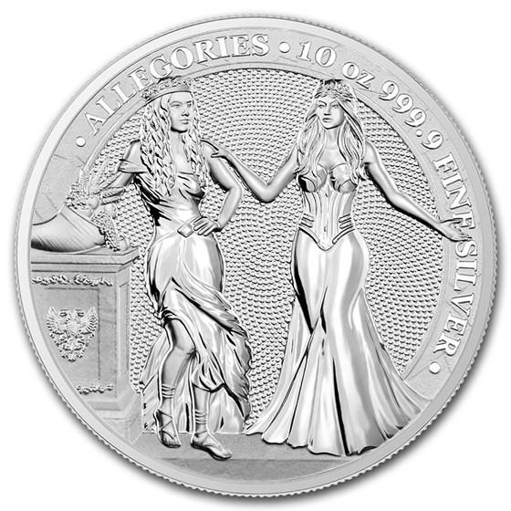 2020 Germania Allegories 10 oz Silver Round BU (Italia)