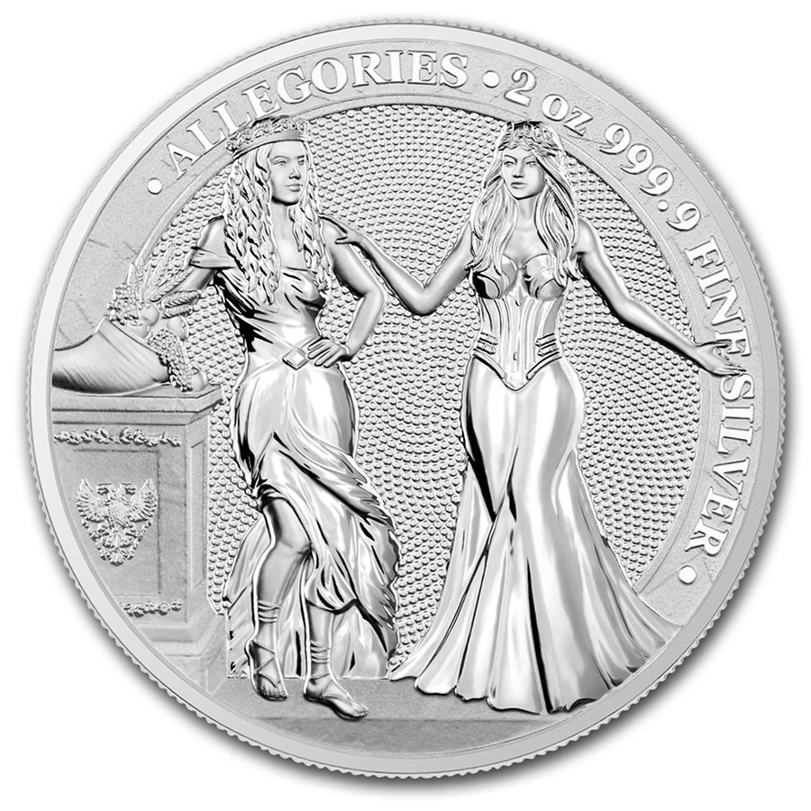 2020 Germania Allegories 2 oz Silver Round BU (Italia)