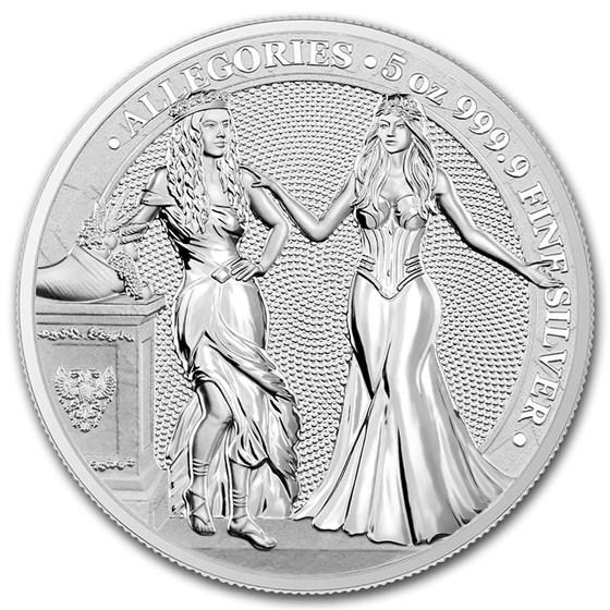 2020 Germania Allegories 5 oz Silver Round BU (Italia)
