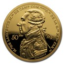 2020 Gold €50 Great Dates of Humanity Proof (Lafayette in Boston)