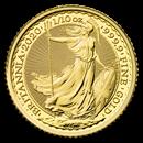 2020 Great Britain 1/10 oz Gold Britannia BU Coin