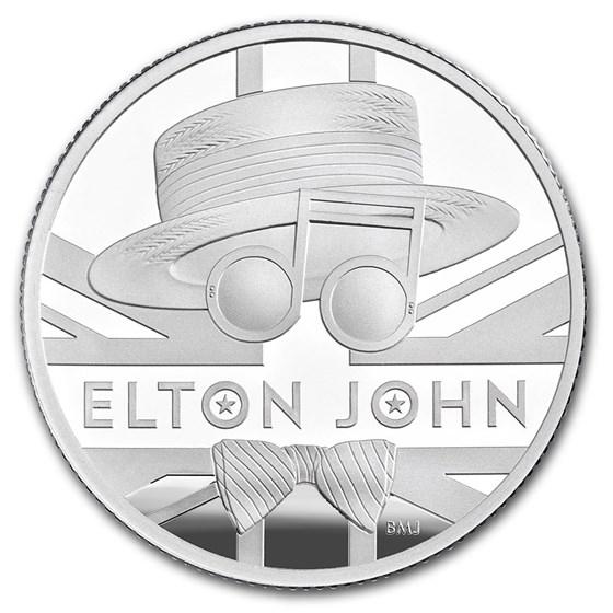 2020 Great Britain 1/2 oz Proof Silver Music Legends: Elton John