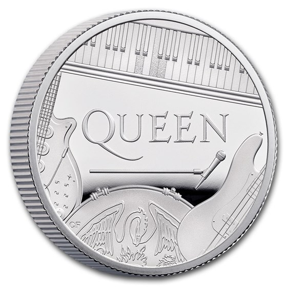 2020 Great Britain 1/2 oz Proof Silver Music Legends: Queen