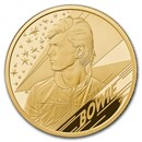2020 Great Britain 1/4 oz Gold Proof Music Legends: David Bowie