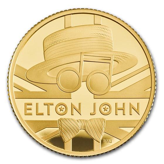 2020 Great Britain 1/4 oz Gold Proof Music Legends: Elton John