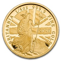 2020 Great Britain 1/4 oz Proof Gold Britannia