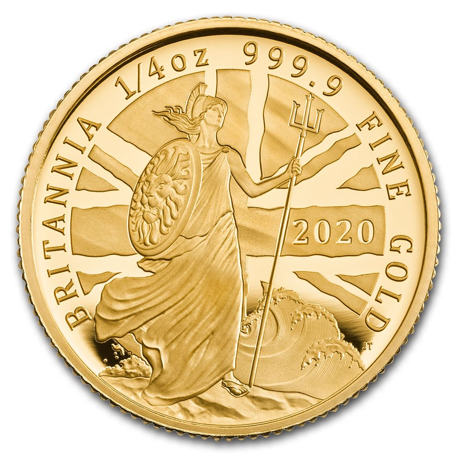 2020 Great Britain 1/4 oz Proof Gold Britannia
